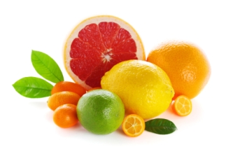 Citrus fresh fruit isolated on a white background
